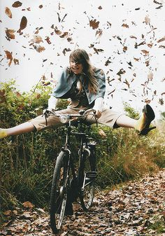Riding fast down a hill, on your favourite bike, kicking up leaves as you go