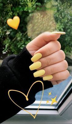 34 trendy summer nail designs that are so perfect . - 34 trendy summer nail designs that are so perfect … # nails - Acrylic Nails Yellow, Yellow Nail Art, Acrylic Nails Coffin Short, Simple Acrylic Nails, Best Acrylic Nails, Acrylic Nail Designs, Simple Nails, Coffin Nails, Yellow Nails Design