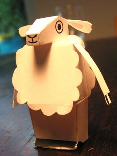 Sheep. Free PDF template available.