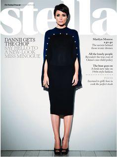 Stella Magaizne with Dannii Minogue wearing Alexander McQueen Dress
