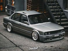 BMW E30 3 series grey stance