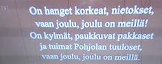 TV1 JOULUKUUSI&JOULU MUSIIKKI UUTISET&Ohjelmat Kaunis Kiitos. Seuraan&TYKKÄÄN. Nautin MUSIIKISTA joka päivä HYMY Rauhallista Joulunaikaa Kaikille! Toivoo HXSTYLE by HEINI&Kissat HYMY  TV1 Yle.fi  TV&OHJELMAT....KIITOS!