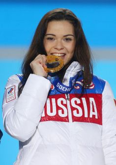 FIGURE SKATING WOMEN: Gold medalist Adelina Sotnikova of Russia