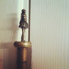 #bronze ballerina hingehead. Great #home #decor idea.