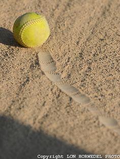 A softball player.