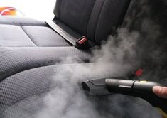 Seat cleansing with Steam Cleaner