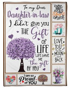 Daughter In Law Quotes, Daughter In Law Gifts, Son Quotes, To My Daughter, Faith Quotes, Daughters, Happy Birthday Cards, Birthday Greeting Cards, Birthday Wishes For Twins
