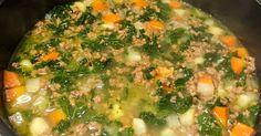 Hiidenuhman keittiössä: Lehtikaali-jauhelihakeitto