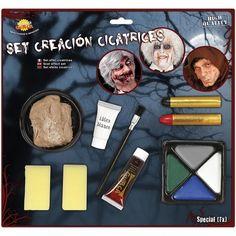 Kit Maquillaje Creaciones Cicatrices #maquillajehalloween #efectosespeciales Maquillaje Halloween, Makeup Pallets, Wound Makeup, The Creation