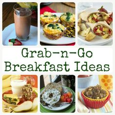 Grab-n-Go breakfasts for busy mornings and back to school! @produceforkids