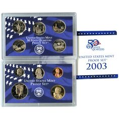 2003-S 10-Coin Proof Set including 5 State Quarters