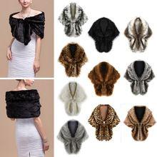 Nuevas mujeres del invierno lujo cuello de piel sintética bufanda bufanda…