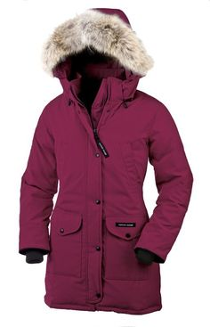 Canada Goose Trillium Parka Down Jackets Womens Winter Outlet Coats Berry