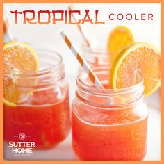 The Sutter Home Tropical Cooler will help keep the summer heat away - cheers!