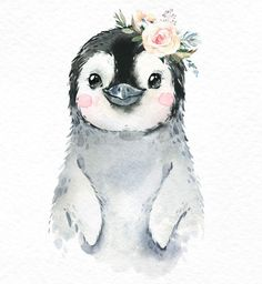 Penguin Snow Leopard Polar Bear Watercolor little animals clipart baby whi. Snowy Penguin Snow Leopard Polar Bear Watercolor little animals clipart baby whi.Snowy Penguin Snow Leopard Polar Bear Watercolor little animals clipart baby whi. Bear Watercolor, Watercolor Animals, Watercolor Tattoo, Baby Animal Drawings, Cute Drawings, Music Drawings, Bird Drawings, Pencil Drawings, Clipart Baby