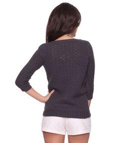 dark grey open-knit sweater $20, forever21.com #ForeverHoliday