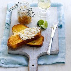 Crab Paté on Toasted Brioche