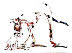 Greaat Dane and steroid discussion Watercolor dog Print SIGNED by the Artist Carol Ratafia DOUBLE MATTED to 16x20 by ratafia on Etsy https://www.etsy.com/listing/106198472/greaat-dane-and-steroid-discussion