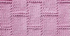 This stitch uses only knit and purl stitches to create a textured tile pattern.