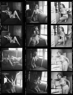 Anita Ekberg photographed by Phil Stern in 1953.