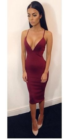 Friendly Seductive Sequined Glitter Cocktail Party Midi Dress Women Sexy Deep V Neck Low Back Crossover Straps Bodycon Draped Neckline Weddings & Events