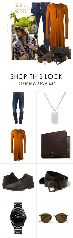 """""""#14"""" by cordelia-fortuna ❤ liked on Polyvore featuring Dsquared2, Loren Stewart, UNCONDITIONAL, Mulberry, Woolrich, Hollister Co., Rado, Bottega Veneta, men's fashion and menswear"""