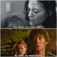 #The100 BELLAMY AND OCTAVIA