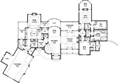 French Country Home Floor 1 Luxury House Plans, Luxury Houses, House Design Drawing, French Country House, European House, Huge Mansions, I Love House, Safe Room, Take The Stairs