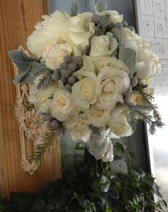 Winter Bridal Bouquet - Bloomberry Floral