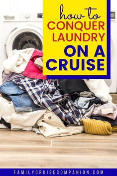 Making an advance plan for what to do about laundry on your next cruise will help streamline your packing, give your more cabin space, and save money on baggage fees. Read this guide on doing travel laundry on a cruise ship, and learn about the travel laundry tips and hacks that will help you manage your laundry in an affordable fashion. Packing For A Cruise, Cruise Tips, Packing Tips For Travel, Travel With Kids, Family Travel, Excess Baggage, Family Cruise, Laundry Tips, Getting Things Done