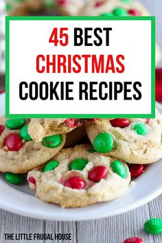 christmas cookies traditional Weihnachtspltzchen The 45 best and easy Christmas cookie recipes perfect for holiday parties, a cookie exchange, or for kids. Easy Christmas Cookie Recipes, Frugal Christmas, Best Christmas Cookies, Christmas Desserts, Holiday Foods, Holiday Treats, Christmas Treats, Cookie Exchange, Favorite Things Party