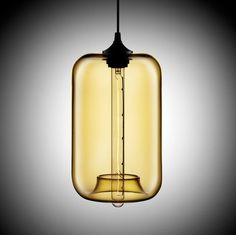 The Niche Modern Pod Pendant was designed to subtly break the rules and expand the boundaries of what hand blown glass can do. 75w bulb.