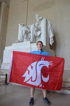 Washington State University's Coug flag is flown all over the world! Share your photo! Washington State University, All Over The World, Flag, Waves, College, Memories, People, Memoirs, University