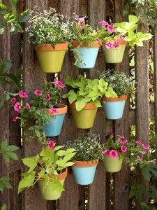 Herb Garden Idea - on east side of lattice wall