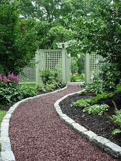 Garden Pathway and garden edging.