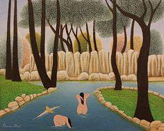 The Three Olympians by Cesare Novi - GINA Gallery of International Naive Art