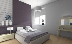déco chambre à coucher gris violet