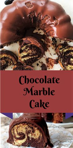 This Chocolate Marble Cake is deliriously Soft, spongy and moist. How can you go wrong when the vanilla and chocolate cake are swirled together. Just like a dream. There is no butter used in this cake and its glazed with world's easiest glaze.