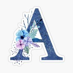 Alphabet Stickers, Alphabet Art, Printable Stickers, Cute Stickers, Winter Bouquet, Winter Flowers, Art Mural Fashion, Monogram Wallpaper, Lion Wallpaper