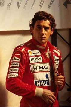 Ayrton Senna, always intense, before and after the race.
