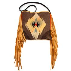 Totem Salvaged Vintage Chimayo and Fringe Purse