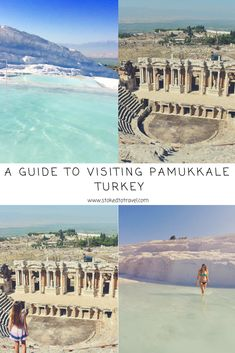 Pamukkale, Turkey - Essential Tips - Stoked to Travel As Turkey's most popular attraction, visiting Pamukkale is incredible, but it does take some planning in order to beat the crowds and to maximise your enjoyment so read on for all the info you need! Backpacking Europe, Europe Travel Guide, Asia Travel, Pamukkale, Europe Destinations, Turkey Destinations, One & Only, Visit Turkey, Best Travel Guides