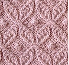 Japanese Lace Knitting Stitch with bobble. More Great Patterns Like This