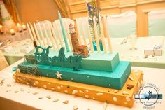 Beach Theme Bar & Bat Mitzvah Candle Lighting Display by Sweet Dreams Photo Video - mazelmoments.com