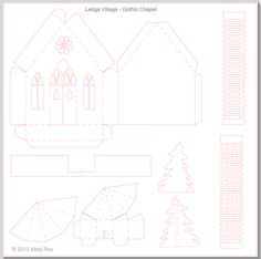 Ashbee Design Silhouette Projects: Ledge Village • Country Chapel