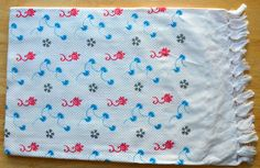 Turquoise and Pink Paisley Bath Towel