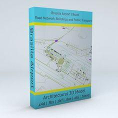 Brasilia BSB Airport Roads and Buildings | 3D model