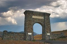 This is the northern entrance to Yellowstone National Park, right outside the town of Gardner, Montana.