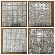 12 pcs shell backsplash tile mother of pearl mosaic As Kitchen Bathroom Walls. shell backsplash tile mother of pearl mosaic As Kitchen Bathroom Walls. Shell mosaic tile are used widely in different places. Mosaic Bathroom, Bathroom Wall, Mosaic Tiles, Wall Tiles, Tiling, Bathroom Fixtures, Small Bathroom, Master Bathroom, Bathroom Ideas