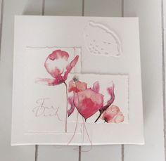 ich hoffe ich langweile Euch nicht, aber ich aber heute noch zwei kleine Kärtchen mit einem Blumengruss und dank Susanne`s lieben Kommentar ist auch noch ein Box dazu entstanden 5 Kärtchen